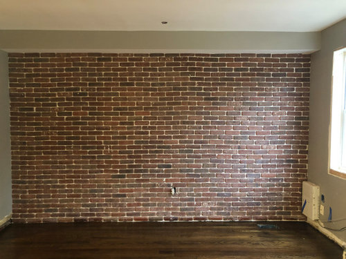 Brick Veneer Accent Wall Looks Uneven
