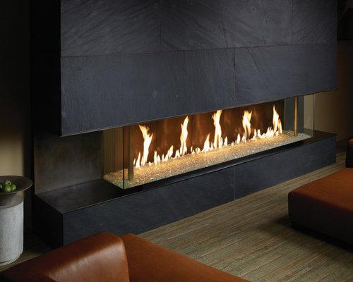DaVinci by Travis Industries - DaVinci Custom Fireplaces - Bay Window - Indoor Fireplaces