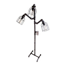 Industrial Floor Lamp, Galvanized Pipe