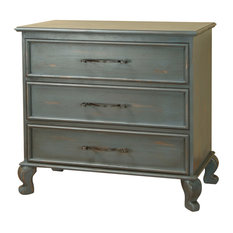 Country Blue 3-Drawer Dresser