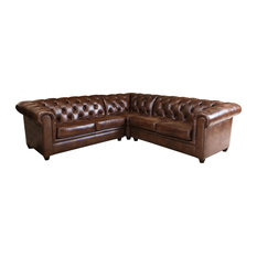 Attirant Abbyson Living   Tuscan 3 Piece Sectional Sofa, Brown   Sectional Sofas