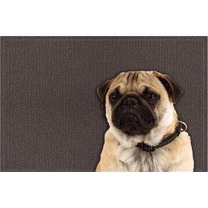 Pensive Pug Gallery Door Mat, Small