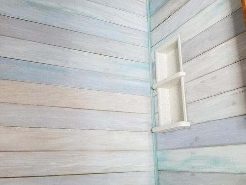 Waterproofing Acrylic Painted Wood Shower Walls
