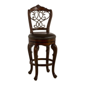 Enjoyable Burrell Swivel Counter Stool Mediterranean Bar Stools Caraccident5 Cool Chair Designs And Ideas Caraccident5Info