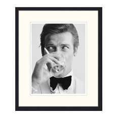 """""""Roger Moore"""" Framed Print, 50x60 cm"""
