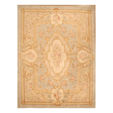 Lotfy & Sons - Versailles QAM12 - 3ft 9in x 5ft 9in Light Blue