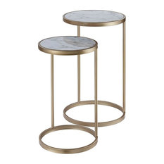 2-Pc Nesting Table Set in Gold