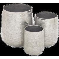 Tancredo 3-Piece Aluminum Planter Set