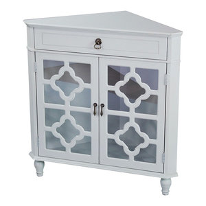 Blue Ridge Corner Floor Cabinet Traditional Accent