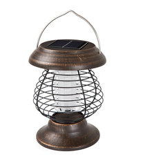 2 in 1 Solar Powered UV Bug Zapper and LED Lantern by Wakeman Outdoors