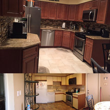 Kitchen Before/ After Pictures