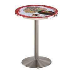 Chicago Blackhawks Pub Table W/Red Background 28-inchx36-inch