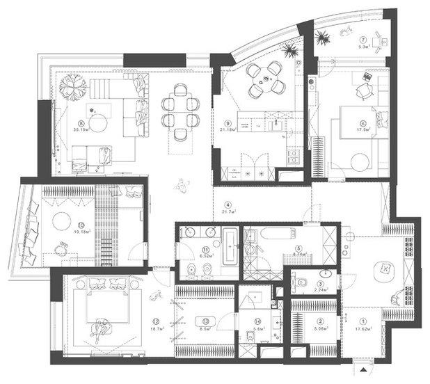 Внутренний план by Архитектурная студия MOPS