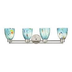 Destination Lighting - Modern Bathroom Light Satin Nickel Ocean Turquoise Blue Glass - Bathroom  sc 1 st  Houzz & 50 Most Popular Modern Bathroom Vanity Lights for 2018 | Houzz