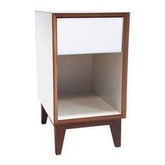 Pix Large Scandinavian Bedside Table, White