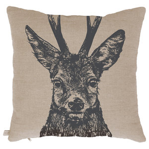 Natural Linen Scatter Cushion, Roebuck