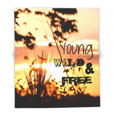 """Young, Wild and Free Blanket, 51""""x60"""""""