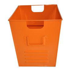 Small Oldschool Storage Bin, Orange
