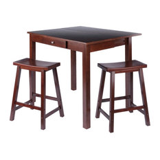 Winsome Perrone 3 Piece 40-inch Counter Height Dining Set With Saddle Stools