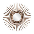 Sunburst Mirror Transitional Wall Mirrors By Bliss