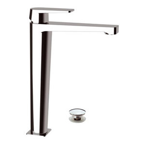 Dream Chrome Plated Bathroom Sink Mixer Tap, Waste Plug Included, 30.40cm