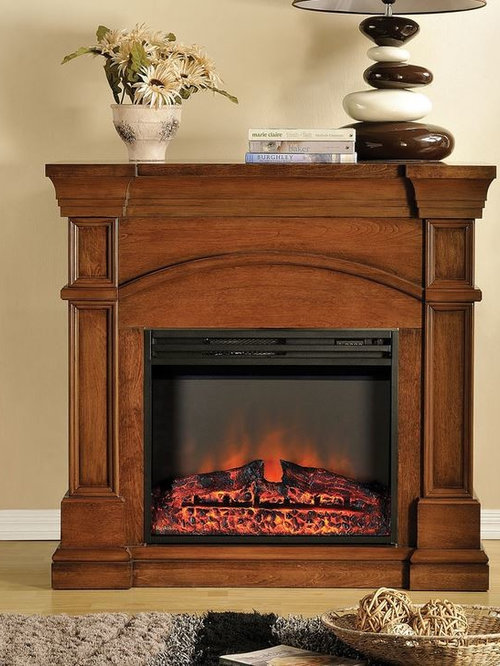 Muskoka - Oberon Electric Fireplace Mantel in Burnished Walnut - MEF2391BWL  - Indoor Fireplaces - Electric Fireplace Mantel Packages