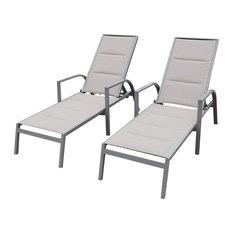 Aluminum Chaise Lounge - Set of 2