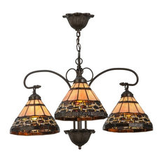 "Meyda Lighting 28""W Ilona 3-Light Chandelier, Mahogany Bronze"