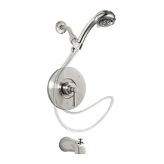 Bathtub, Shower Faucet, 1-Handle, With Shower Head, Brushed Nickel