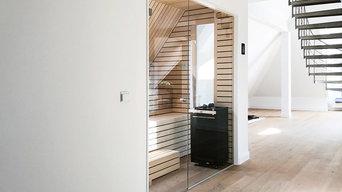 Sauna im 100 qm großen Wellnessbereich