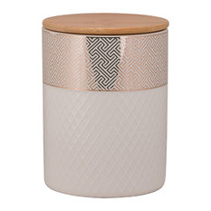 Embossed Geometric Cannister, Large