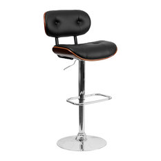 Flash Furniture - Eiffel Button-Tufted Adjustable Swivel Bar Stool Black and Walnut -  sc 1 st  Houzz & Contemporary Bar Stools and Counter Stools | Houzz islam-shia.org