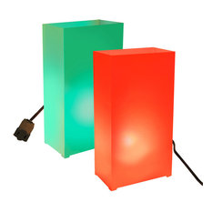 Electric Luminaria Kit With 10 Lights Red and Green