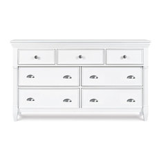 Wooden 7-Dawers Dresser in White
