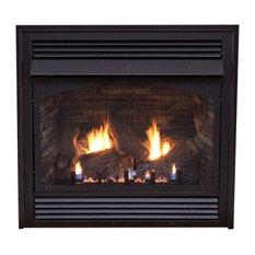 "Premium 36"" Vent-Free Millivolt Control Natural Gas Fireplace"
