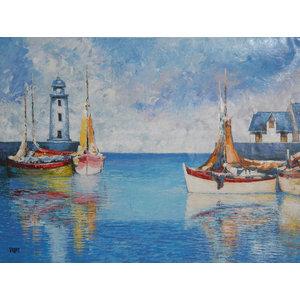 Vilany, Fishing Boats 2, Oil Painting