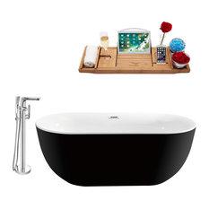 "Streamline 67"" Freestanding Faucet and Tub Set, Showerhead H-120"