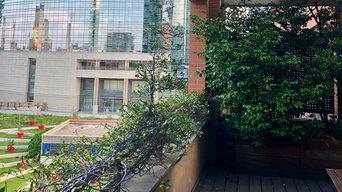 Terrazzo di fronte al Bosco Verticale