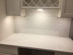 White Kitchen With Calacatta Vicenza Msi Q Quartz Counters