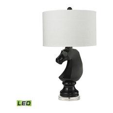 Dark Knight LED Table Lamp, Gloss Black