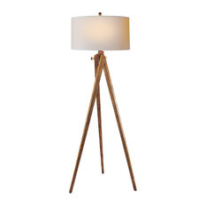 Tripod Floor Lamp, French Waxed Wood