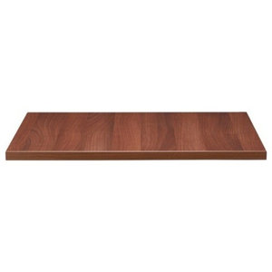 Solid Beech Table Top, 26 mm With Walnut Stain and Varnish, 600 mm Square