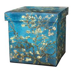 Van Gogh Almond Branch Storage Ottoman