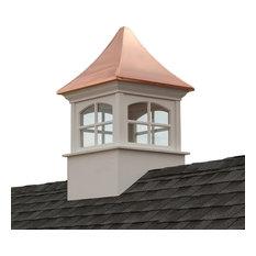 """Westport Vinyl Cupola With Copper Roof, 30""""x50"""""""