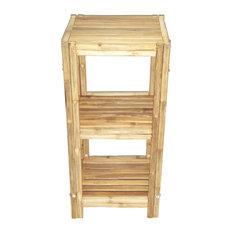 3-Tier Bamboo Bath Rack