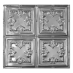 2'x2' Art Deco Tin Ceiling Tile, Set of 20