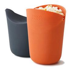 Joseph Joseph M-Cuisine Orange & Grey Single Serve Microwave Popcorn Maker (2)