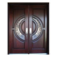 Us Door Window Exterior Front Entry Double Wood M580e 36 X80 X2
