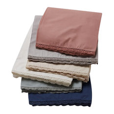 Coyuchi - Organic Lace Crib Skirt, Fog - Crib Accessories