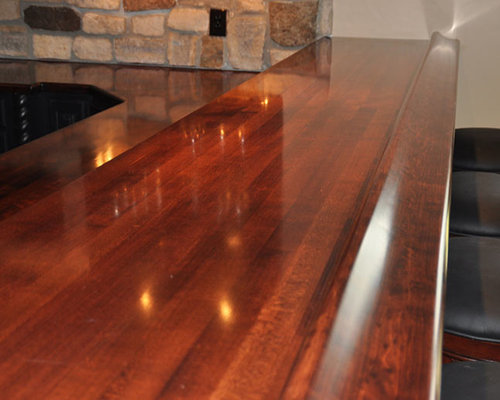 Maple Wood Bar Top Rail By Grothouse   Kitchen Countertops
